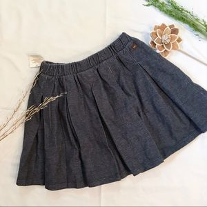 NWT Tea Collection Chambray Knit Pleated Skirt